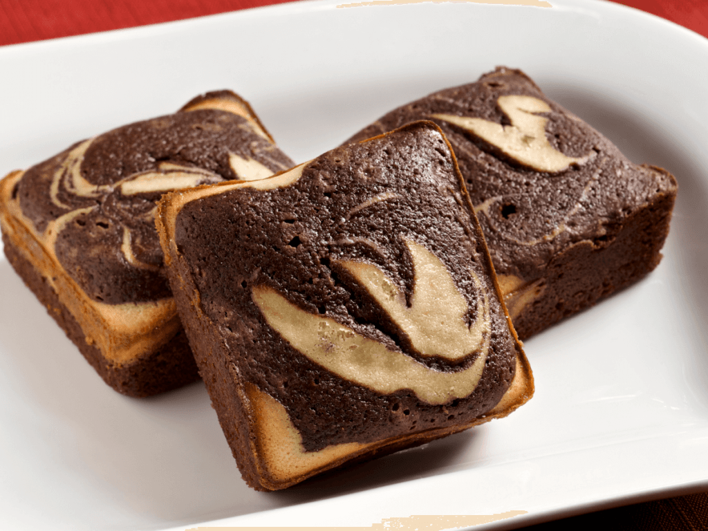 marbled brownies with creamcheese