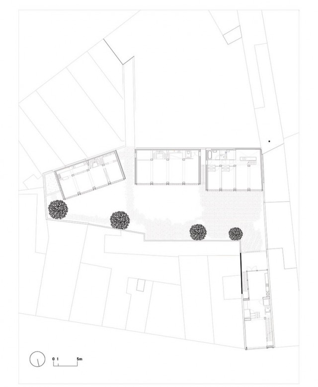 Collectief Noord > Mixed use infill: 3 houses and an