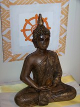 Buddha Rupa on my Shrine Table