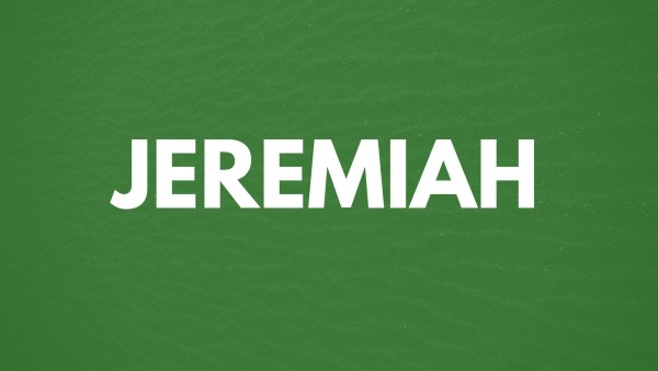 Jeremiah 9:23-24 - Confidence in God in Chaotic Times, Revisited Image