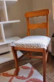 Chair gray towel