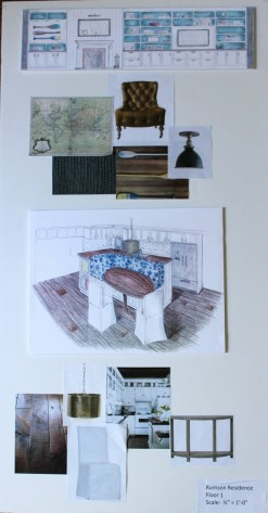 Sitting Room, Kitchen Drawings + Materials
