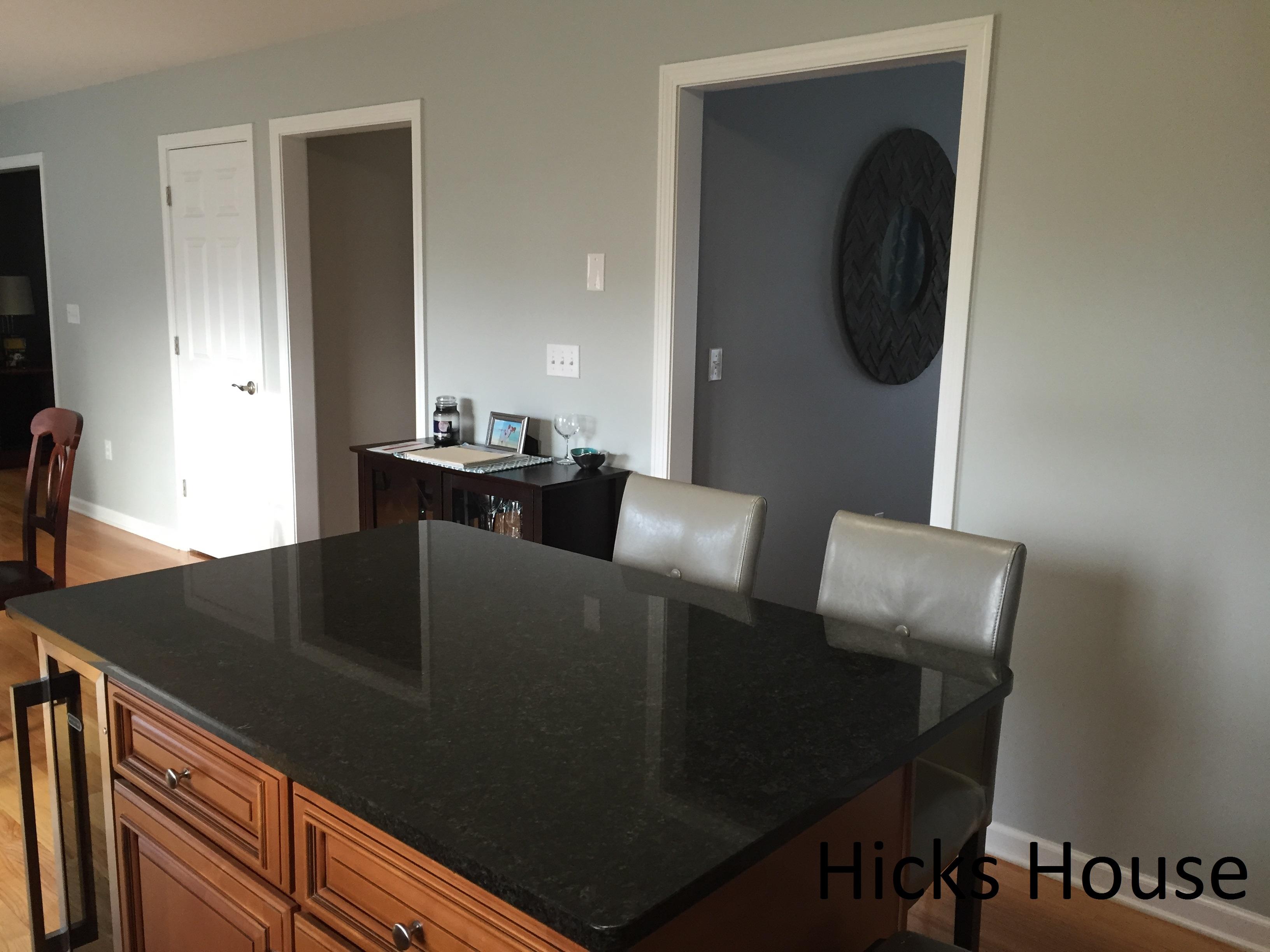 marble kitchen floor kingston brass faucet benjamin moore arctic gray | hicks house