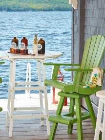 outdoor bar seating - sets stools