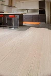 Textured Bleached White Oak Flooring - Hicraft