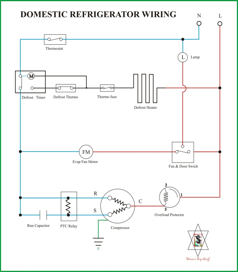 Wiring Diagram Kulkas Secara Umum REFRIGERATION & AIR CONDITIONING