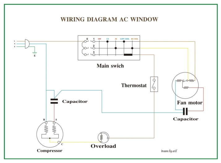 Wiring Diagram AC Window | REFRIGERATION & AIR CONDITIONING