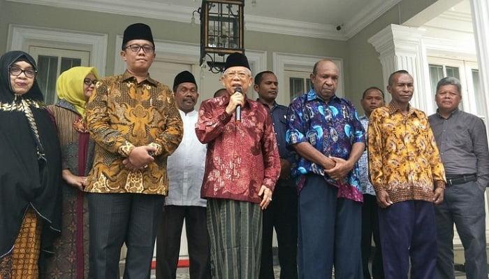 Pendeta Papua dan Wakil Presiden KH Ma'ruf Amin Serukan Perdamaian