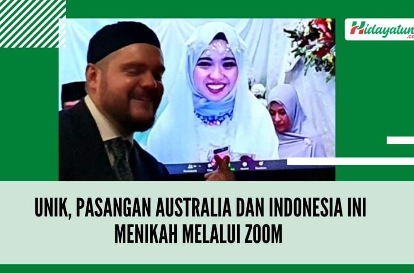 Unik, Pasangan Australia dan Indonesia Ini Menikah Melalui Zoom