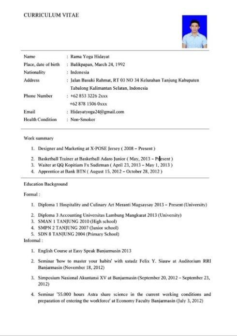 Contoh Application Letter Dengan Artinya Job Application