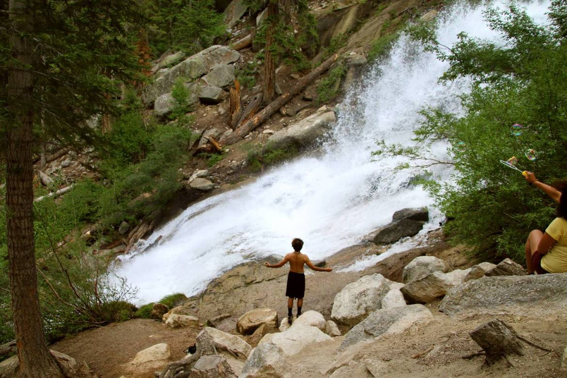 Mt. Whitney Portal Campground has got to be one of the most beautiful campgrounds in all of California, with a raging river and waterfalls!