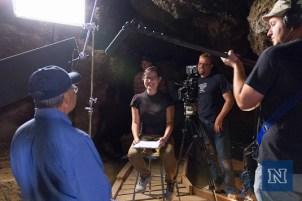 Filming Gene Hattori inside Hidden Cave.
