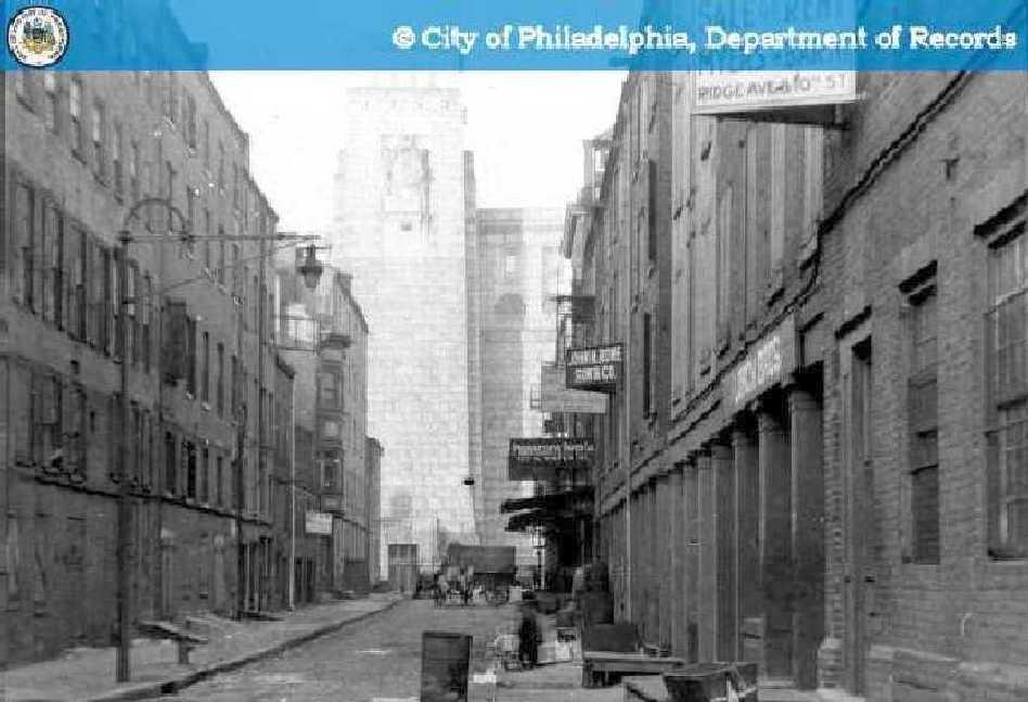 2 1930s looking north on Water St  Hidden City Philadelphia