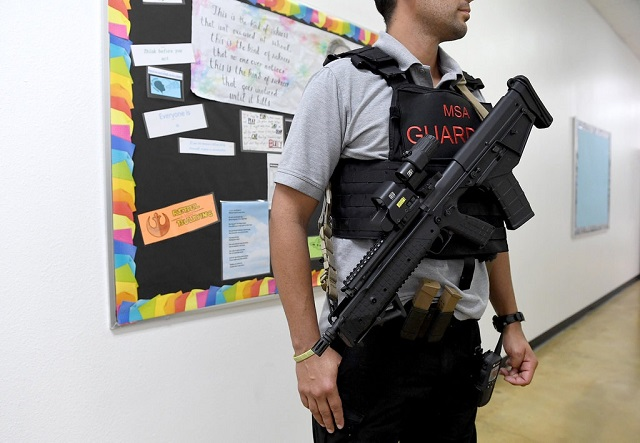 Armed Veteran At The Manatee School for the Arts