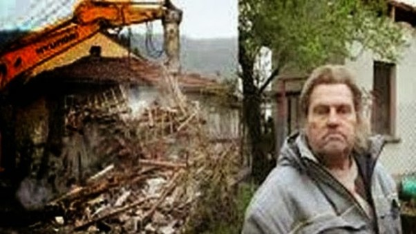 Bulgarian demolishes his home so bank couldn't take it