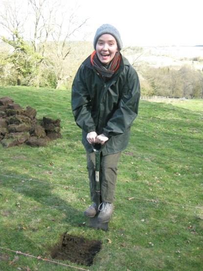 Emmeline pogo-sticking. Photo by Ashley