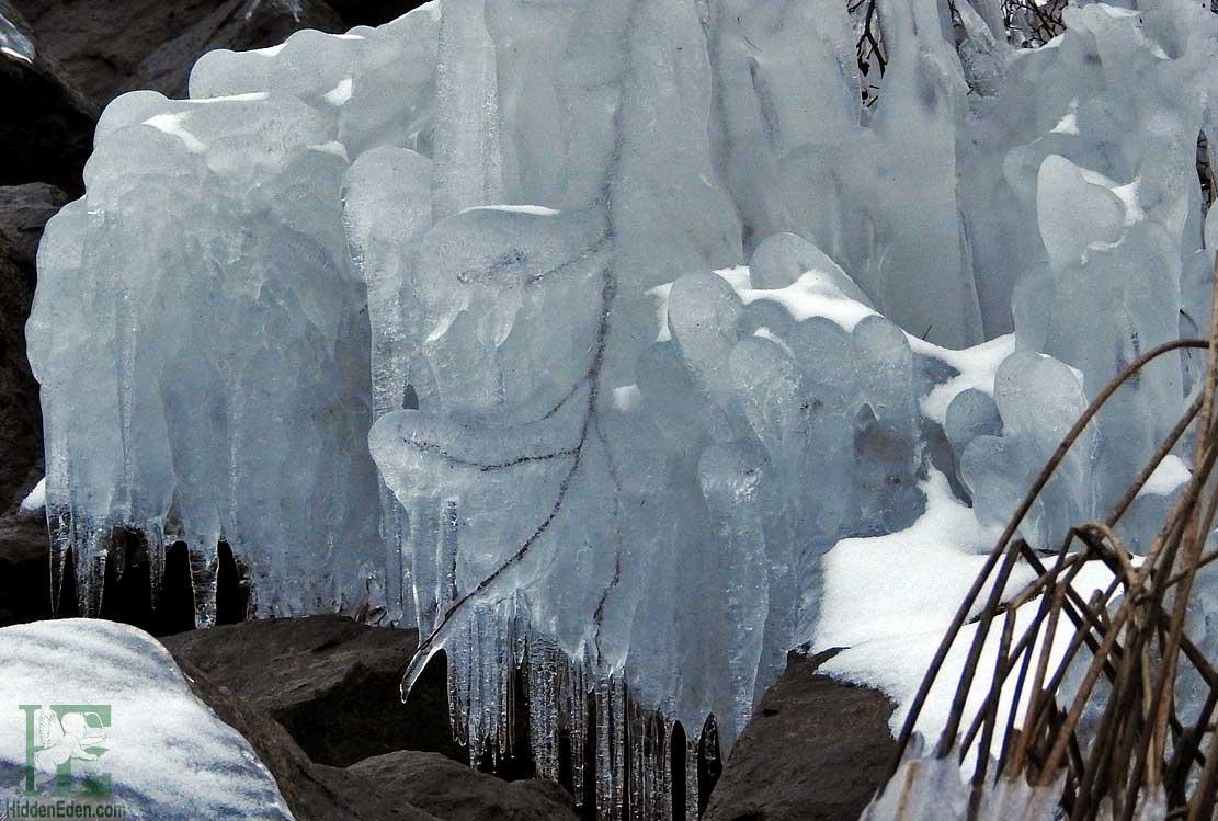 ice on the shore of Lake Muskoka, Gravenhurst Ontario