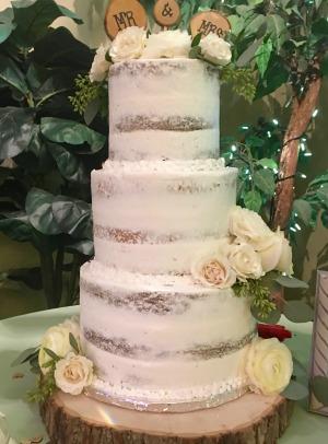 utah wedding naked cake