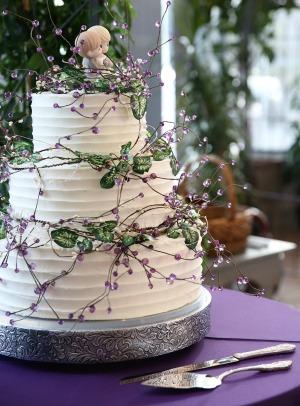 3 layer utah wedding cake