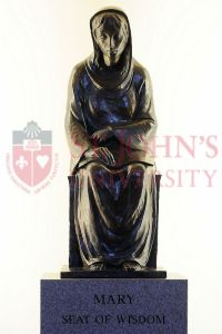 Mary, Seat of Wisdom statue in the St. Thomas More Church, St John's University Campus