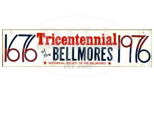 Car Bumper Sticker from the Bellmore Historical Society celebrating the Tricentennial of the Bellmores, New York, 1976.