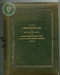 This image shows the green front cover of a festschrift. in the middle of the cover, the title states, a testimonial of the enduring esteem and high regard held for Mary Katherine Peters.