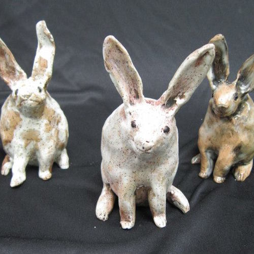 Meg Wicke's Ceramic Rabbits