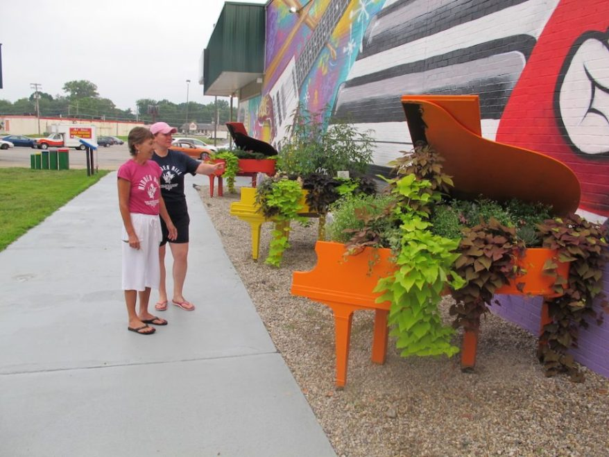 Cheryl Alvey's and Dani Evan's Landscaped Pianos at at Maxwell's House of Music in Jeffersonville IN
