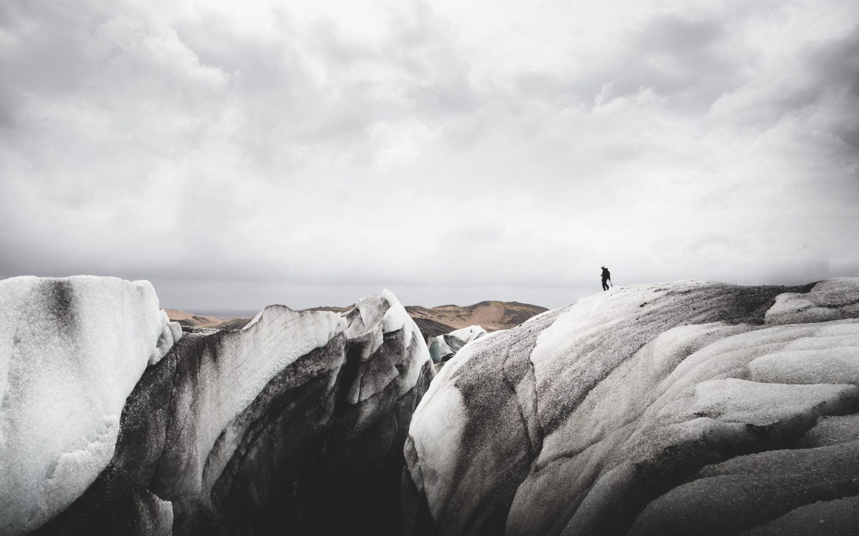 Solheimajökull crevasse   Hidden Iceland