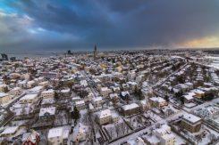 Reykjavík in Wintertime | Helicopter Tours | Hidden Iceland