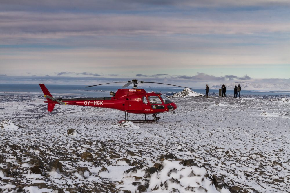 Summit Landing in Wintertime   Helicopter Tours   Hidden Iceland