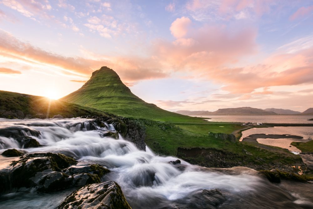 Mount Kirkjufell The Midnight Sun | Hidden Iceland | Photo by Tom Archer