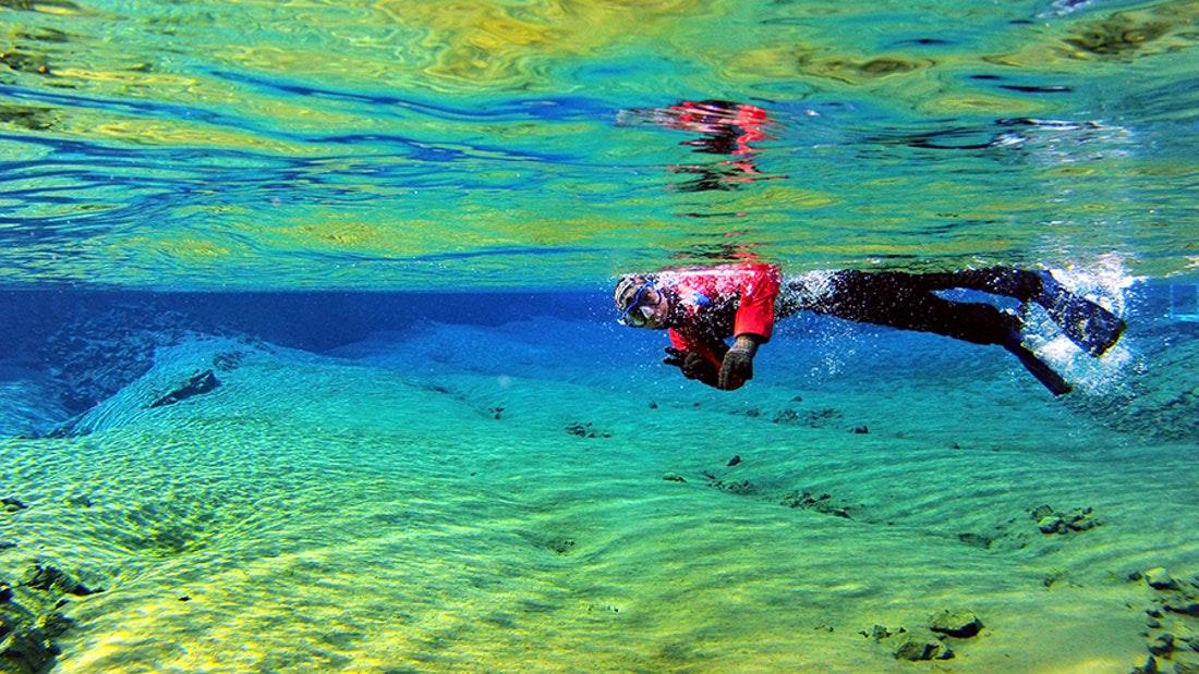 Snorkel Silfra in a Wetsuit tour   Hidden Iceland