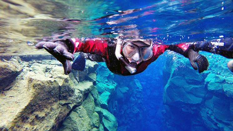 Snorkel Silfra in a Drysuit tour | Hidden Iceland