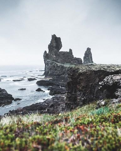 Lóndrangar cliffs in the Snæfellsnes Peninsula | Snæfellsnes Peninsula Tour | Hidden Iceland | Photo by Norris Niman