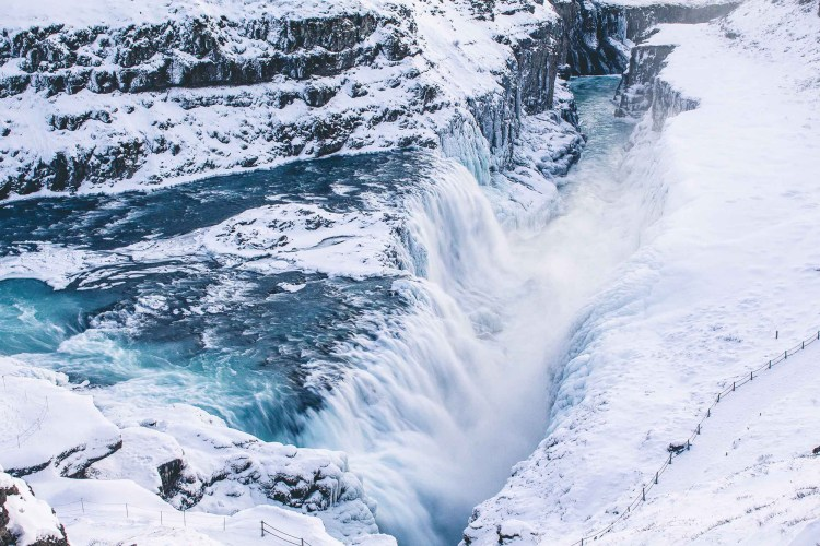 Gullfoss in winter | Golden Circle: Platinum Tour | Hidden Iceland | Photo by Norris Niman
