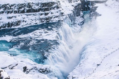 Gullfoss in winter | Golden Circle: Platinum Tour | Hidden Iceland | Photo by Norris Niman