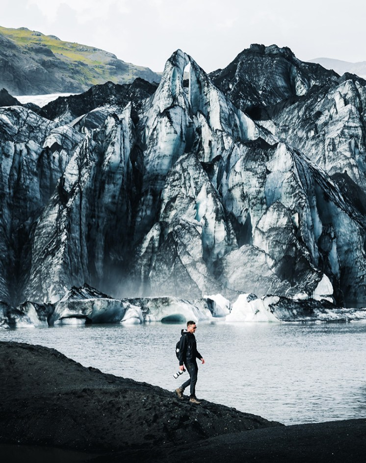 Sólheimajökull Glacier | South Coast: Fire Tour | Hidden Iceland | Photo by Paul Fencaros