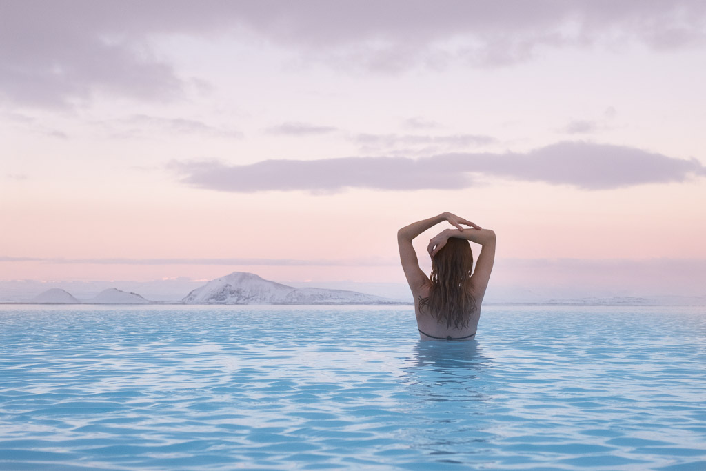 Myvatn Nature Baths Sunset | Hidden Iceland | Photo Myvatn Nature Baths