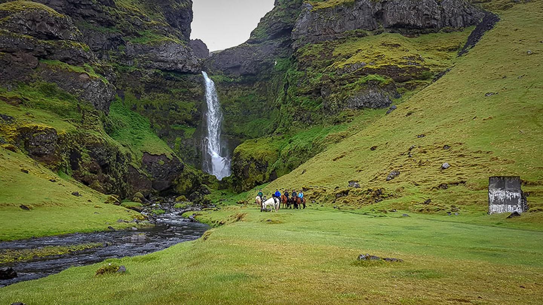 Horse Riding | Waterfall | Írárfoss | Hidden Iceland | Photo Skálakot