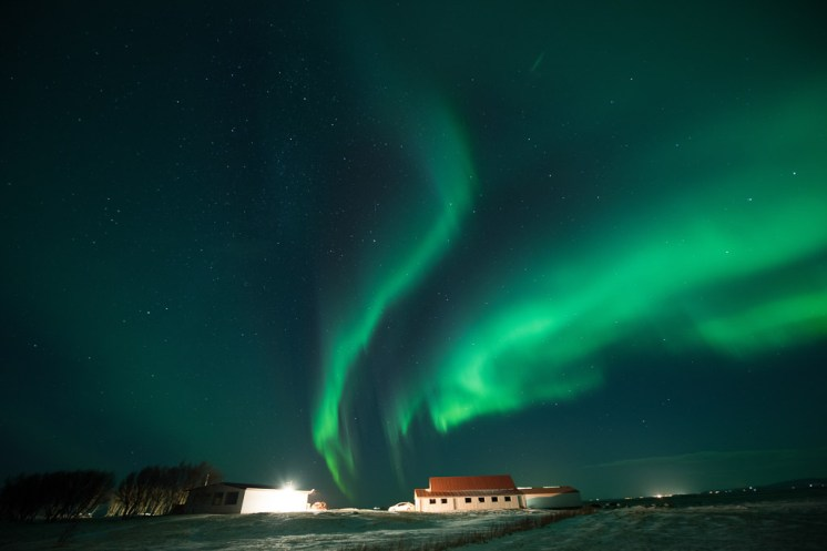 Northern Lights over Farm | Hidden Iceland | Photo Tom Archer