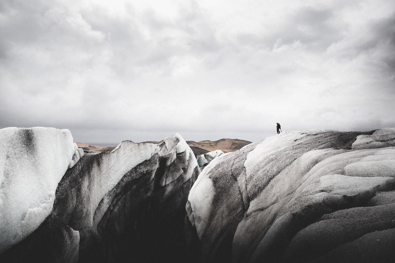 Glacier Crevasse. Hidden Iceland. Photo by Norris Niman. Feature