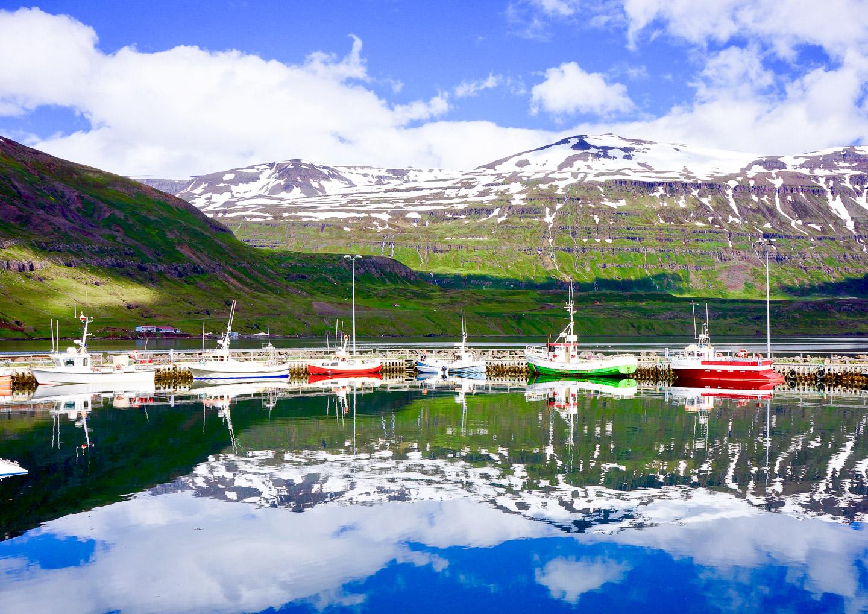 Seyðisfjörður harbour. Photo by Scott Drummond