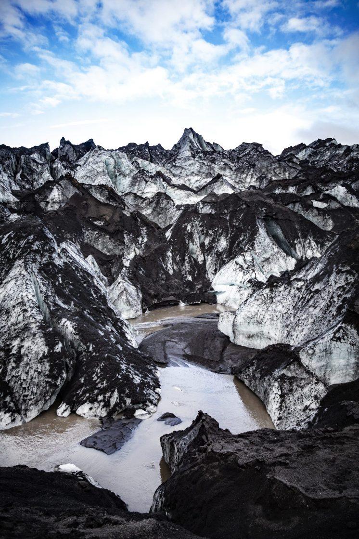 Sólheimajökull Glacier Up close. By Rachel Keenan.