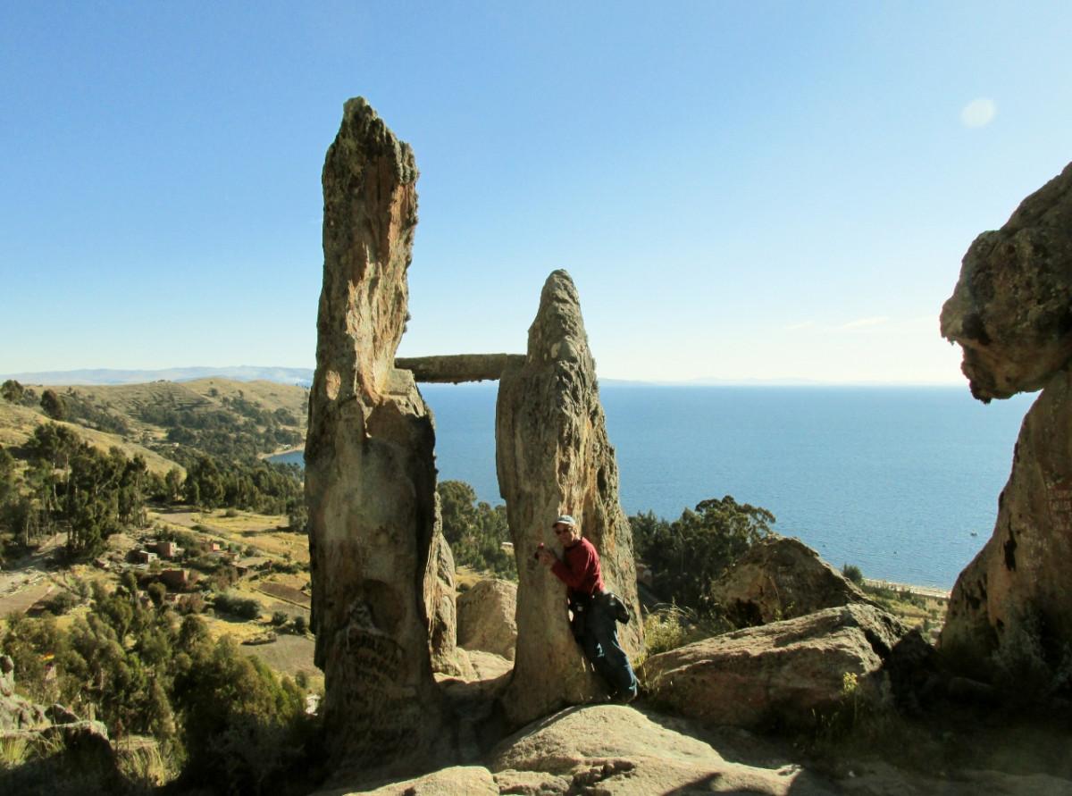 The Megalithic Horca Del Inca Of Copacabana In Bolivia