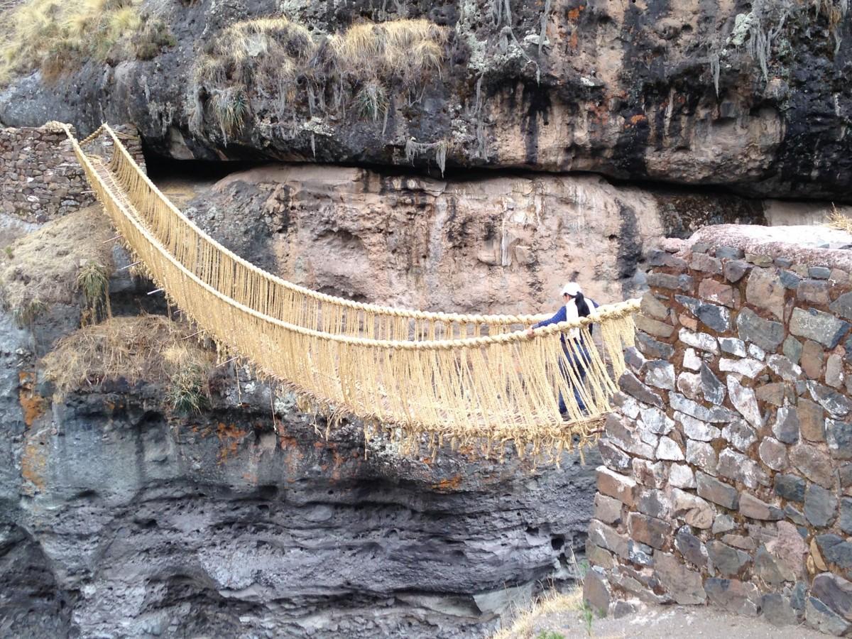 Search For The Last Inca Rope Suspension Bridge In Peru