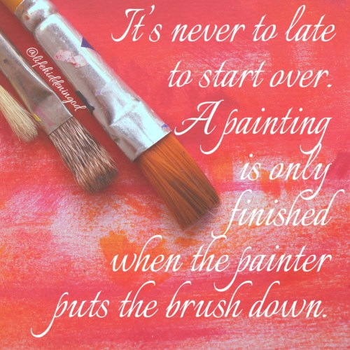 Paint brushes and colored canvas meme
