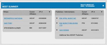 Best Summer - Natasha Bedingfield - ASCAP