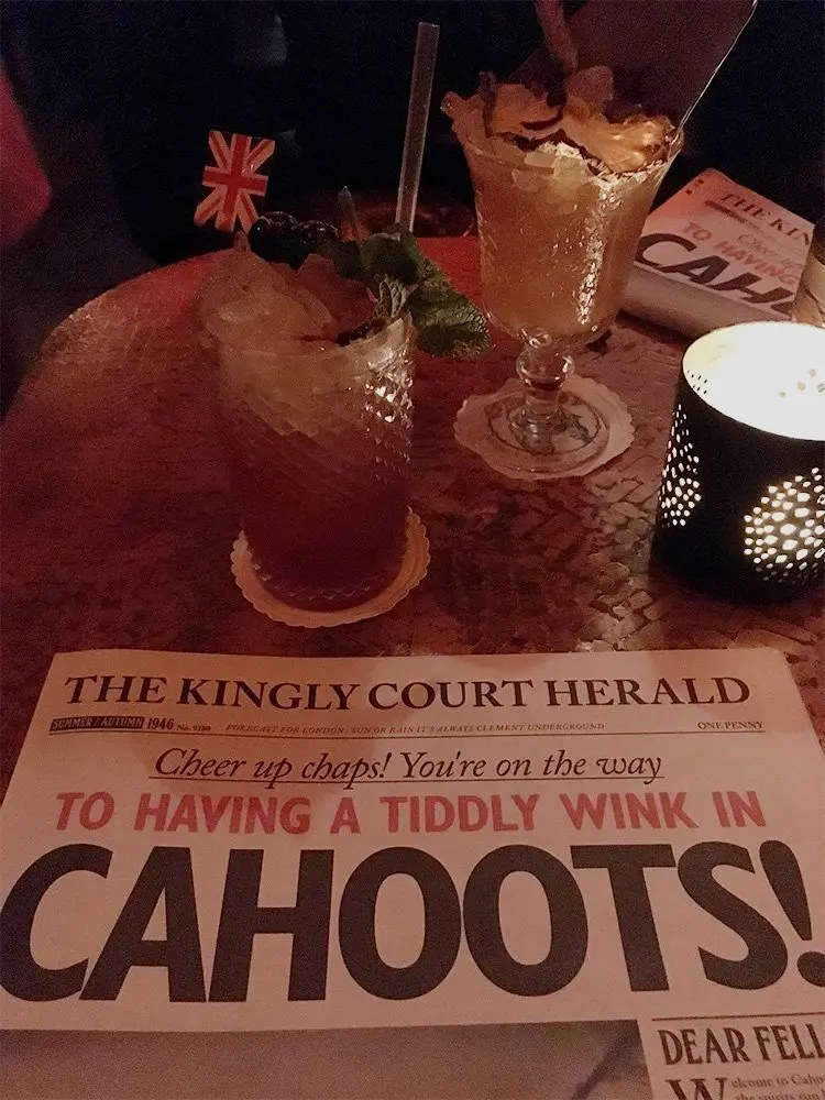 Our Cahoots drinks!