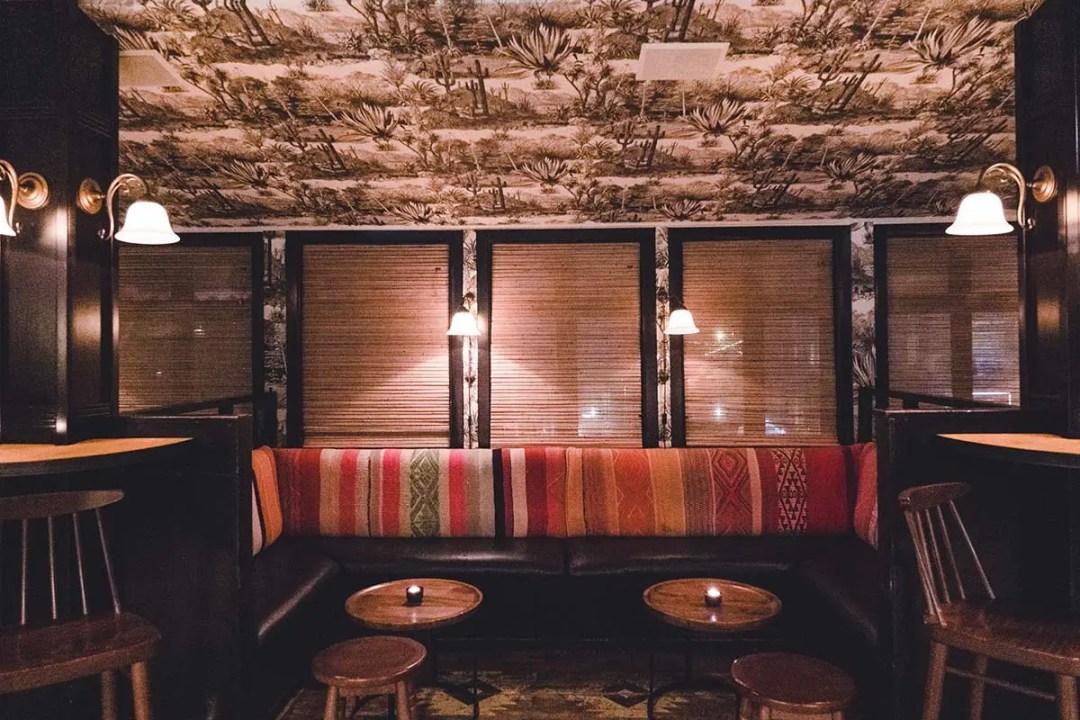Cozy seating area at Pablo Discobar Reykjavik hidden bar